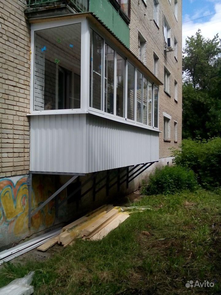 Балкон на 1 этаже фото.