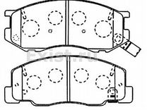 Тормозные колодки kashiyama D2050M для toyota ace