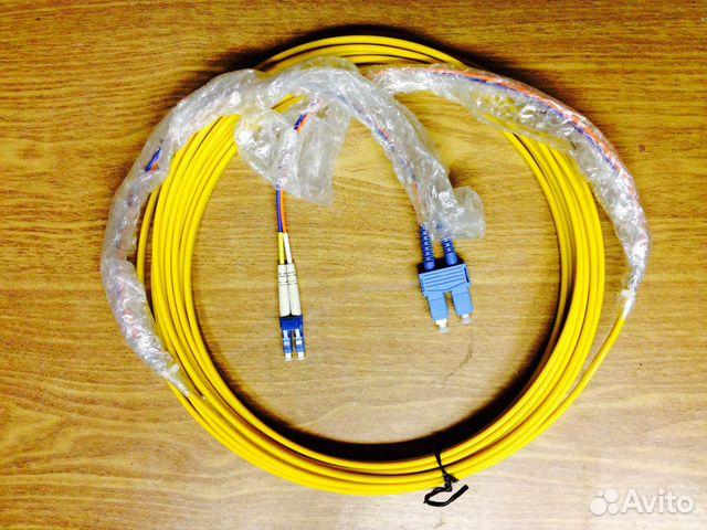 Новый патч-корд волоконно-оптический (шнур) SC-LC, duplex, 10метровТехничес