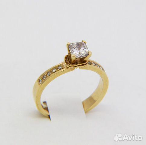 Кольцо золотое, 11 бриллиантов, размер 18   Festima.Ru - Мониторинг ... cab849211ec