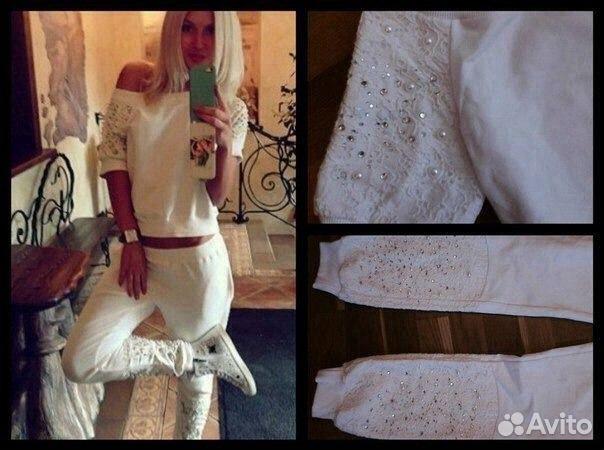 Купить спортивный костюм женский со стразами ив сен лоран в москве