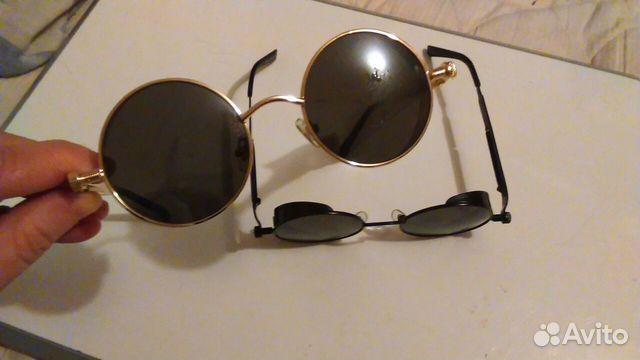 54def0d9bb98 Круглые очки с винтом, пружиной и боковой защитой   Festima.Ru ...