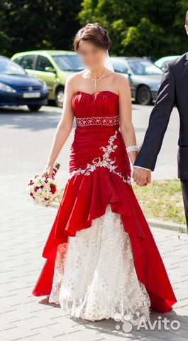d0f4012bd5e Красное свадебное платье