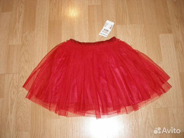 4428f7cd81c Новая юбка-пачка 110 116 красная Швеция KappAhl