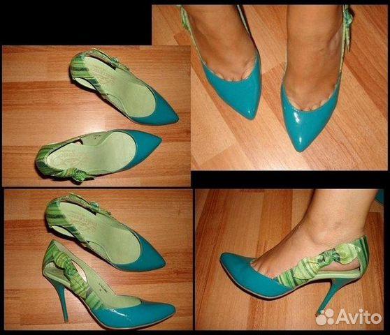 Женские Голубые и Бирюзовые Туфли