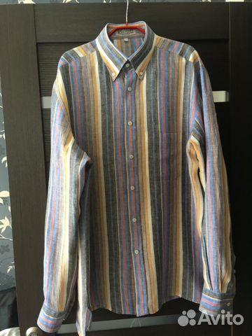 387b672ff9a665f Льняная мужская рубашка купить в Москве на Avito — Объявления на ...