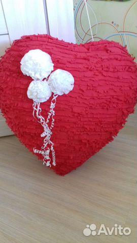 Огромное красивое сердце (папье-маше) 89029981528 купить 1