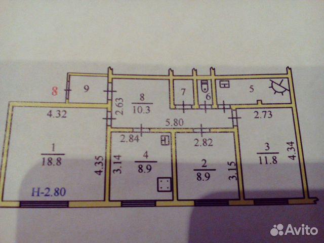 Продается четырехкомнатная квартира за 4 200 000 рублей. Ямало-Ненецкий автономный округ, Салехард, улица Шалгина, 2.