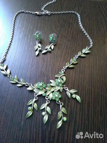 Ожерелье и серьги из нержавеющего сплава 89107827353 купить 1