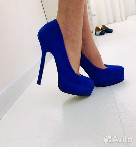 964c39a57ba Туфли Yves Saint Laurent синие нат замшевая Кожа купить в Кабардино ...