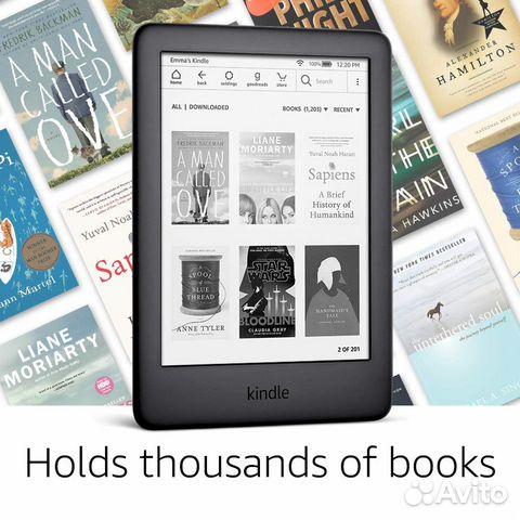 Новые электронные книги Amazon Kindle (подсветка)