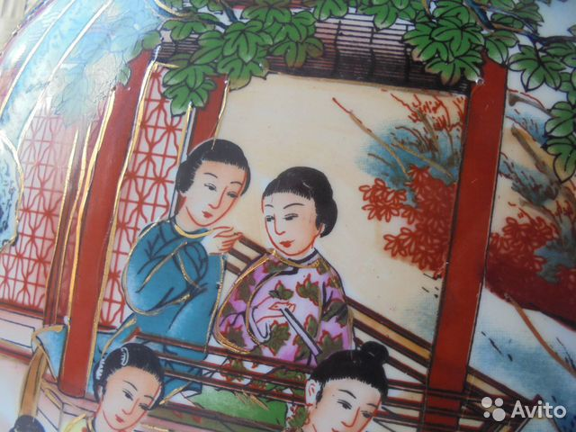 Ваза Китай костяной фарфор роспись позолота  89105009779 купить 3