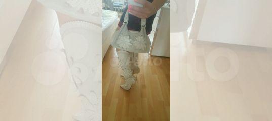 5ebf04fbd Итальянский комплект: летние сапоги и сумка из нат купить в Москве на Avito  — Объявления на сайте Авито