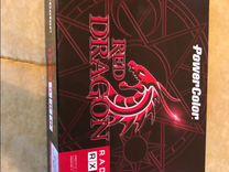 Игровая видеокарта красный дракон