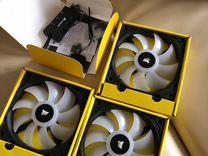 Вентиляторы Corsair sp120 rgb с контроллером и хаб