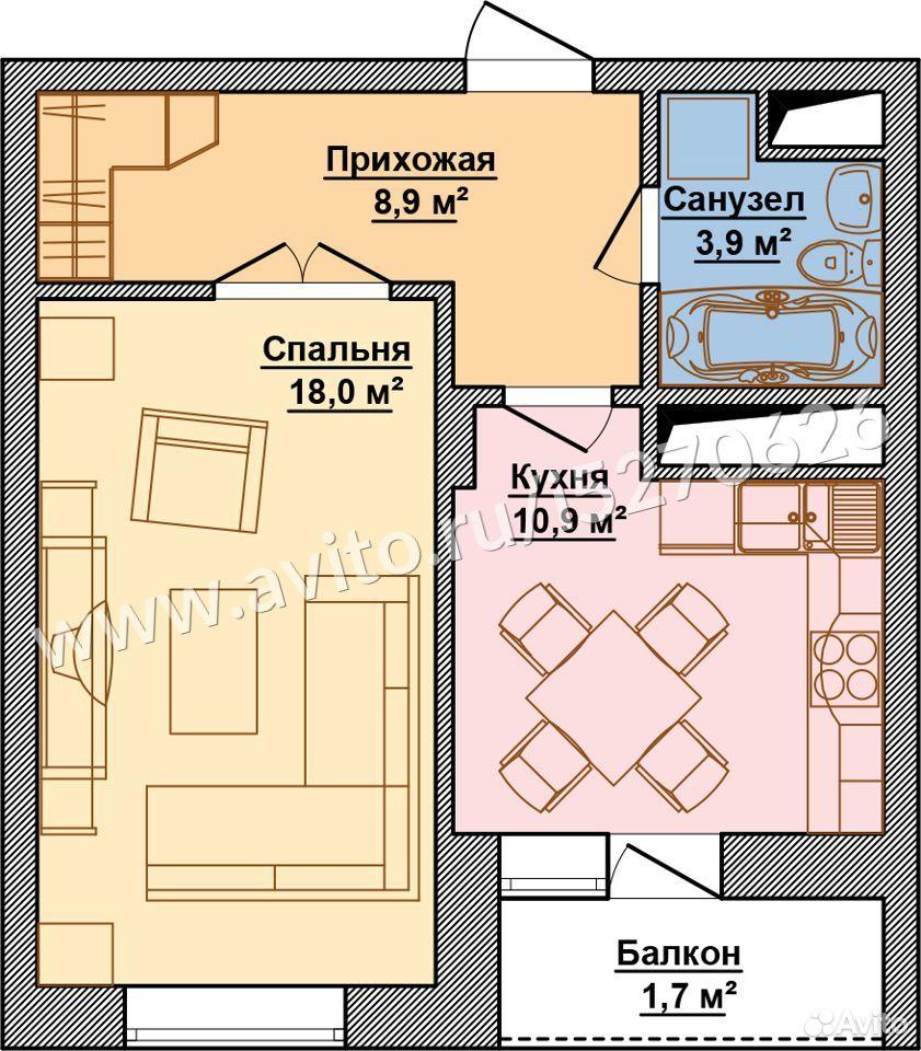 1-к квартира, 45 м², 6/9 эт.  89618134720 купить 6