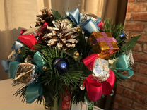 Новогодний подарок handmade букет — Мебель и интерьер в Москве