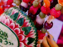 Резные овощи,ягоды,фрукты,фруктово-ягодный фуршет