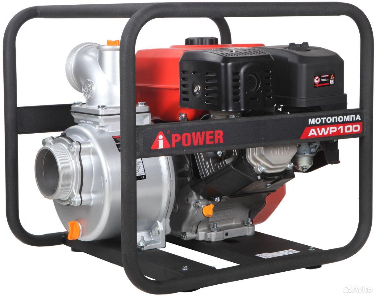 Мотопомпа бензиновая A-iPower AWP100  88632602750 купить 1