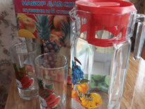 Набор стаканов и кувшин