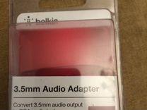 Адаптер Новый, упаковка открыта 3,5 джек на RCA